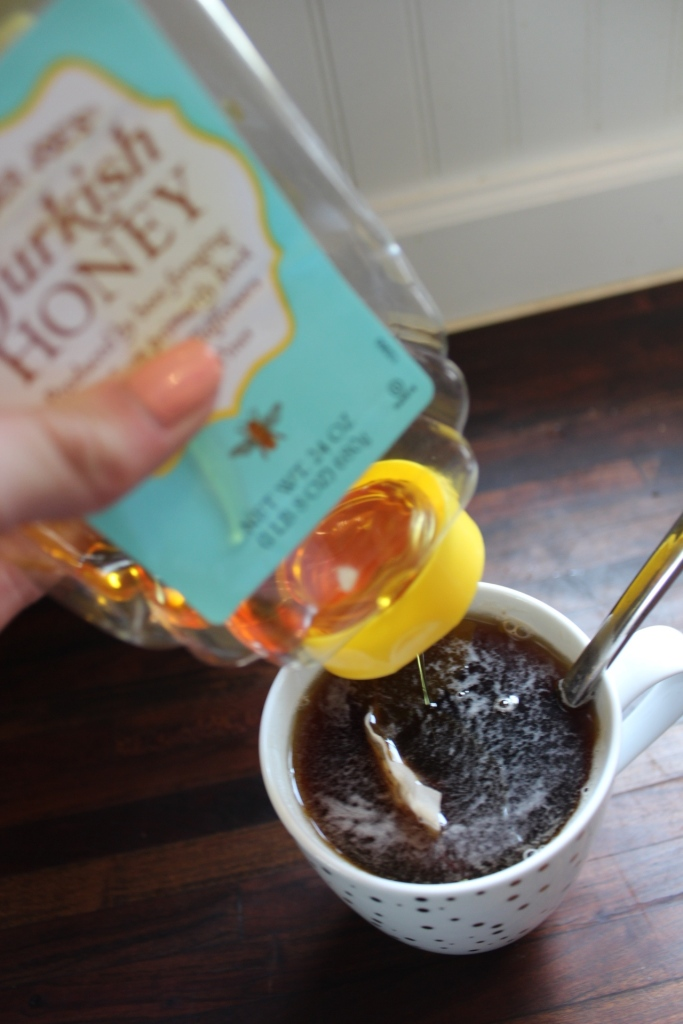 Trader Joe's Turkish Honey into tea