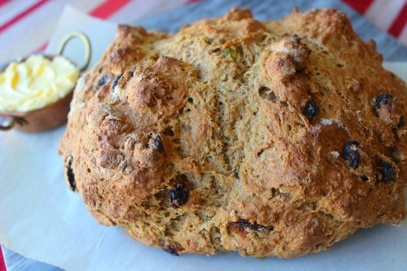 Irish Soda Bread, Bread, Raisins, Baked Bread
