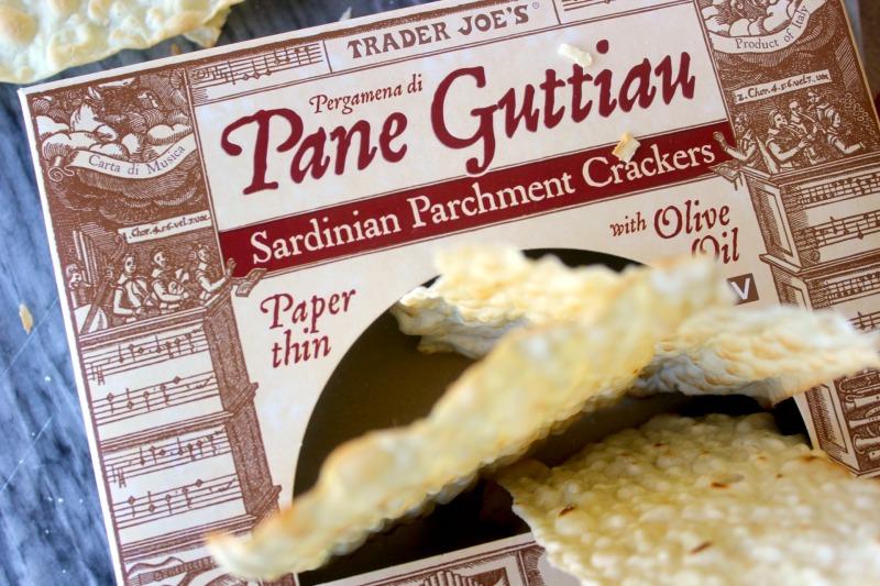 Pane Guttiau, crackers, trader joes