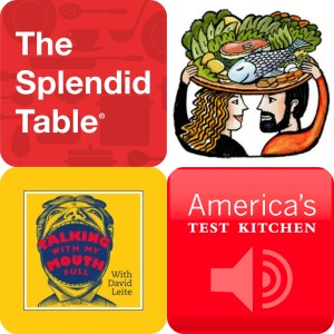 podcast, food podcasts, the splendid table, america's test kitchen, talking with my mouth full, slate's table to farm