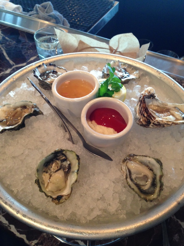 Oysters from Boudin Bakery
