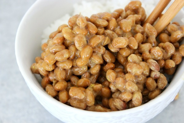 Close up natto
