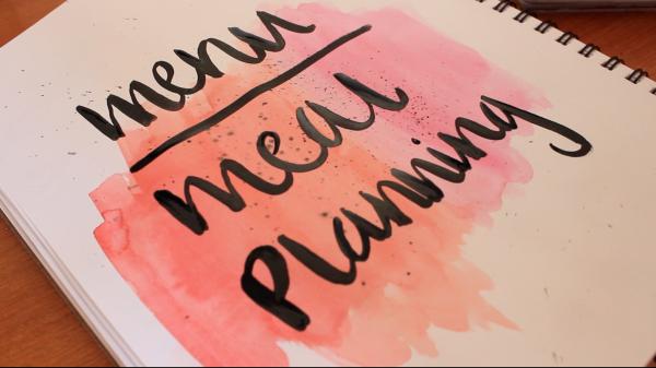 menu planning, watercolor